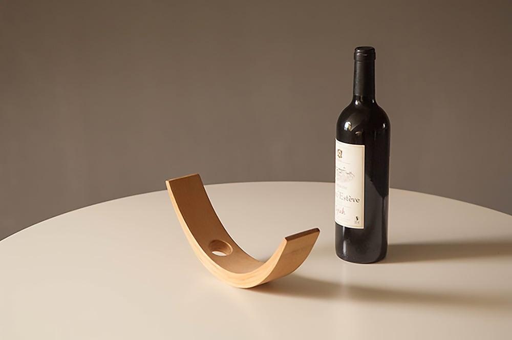 Illusion Bamboo Wine Bottle Holder Apollobox