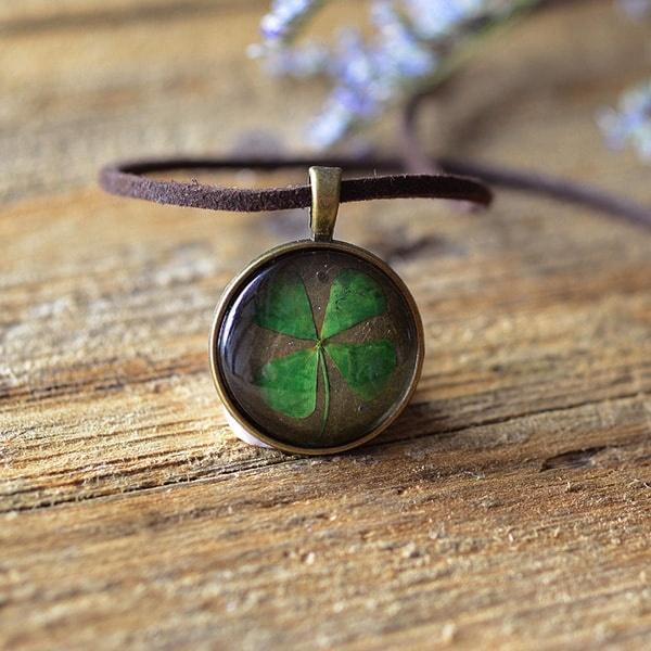 Pressed Four Leaf Necklace