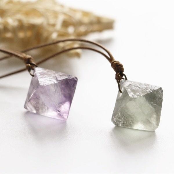 Florite and crystal Jewellery set