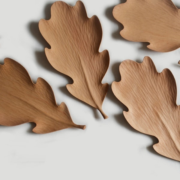 Leaf Shaped Wooden Tray
