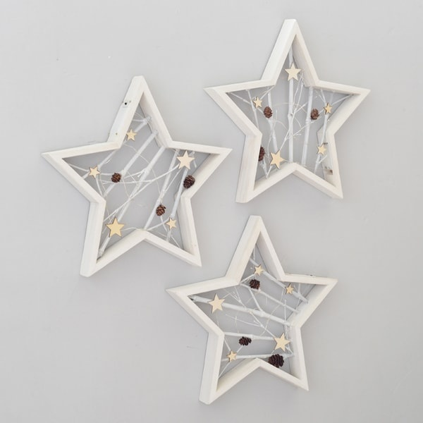 Star Shaped Wall Decor With Led Light