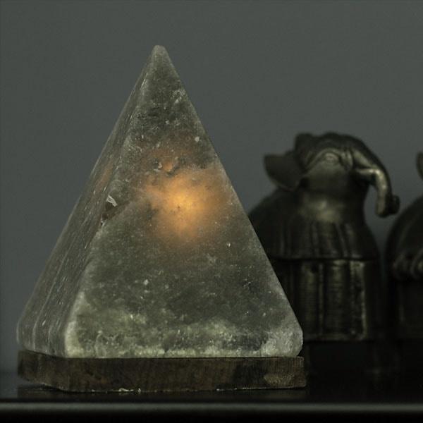 Grey Himalayan Pyramid Salt Light Apollobox