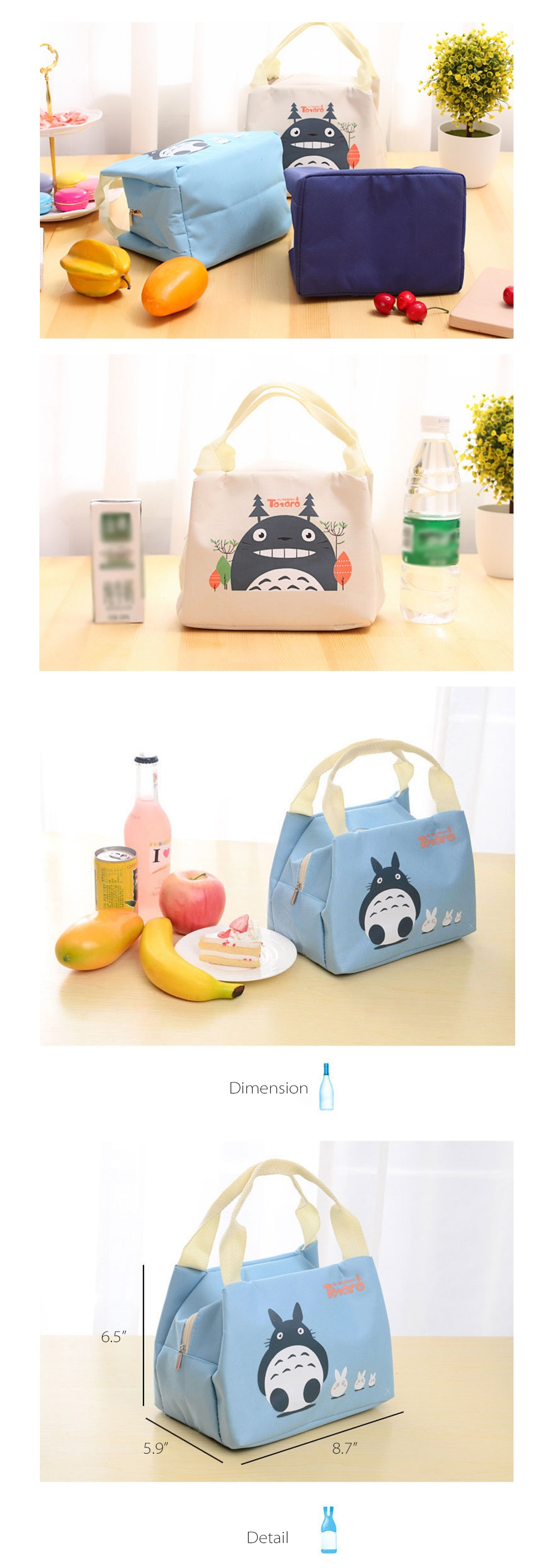 c4b9c444c62c Totoro Insulated Lunch Bags from Apollo Box