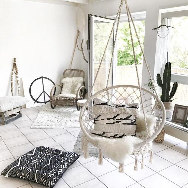 Milky Garden Hammock Chair Apollobox