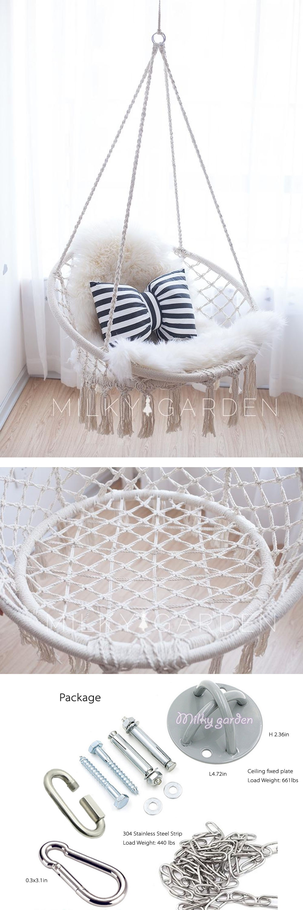 Superb Milky Garden Hammock Chair From Apollo Box Ocoug Best Dining Table And Chair Ideas Images Ocougorg