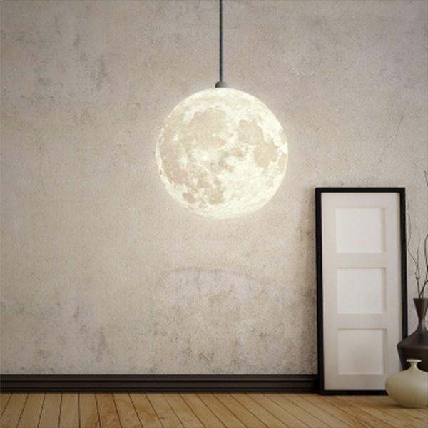3d Printed Moon Pendant Light Apollobox