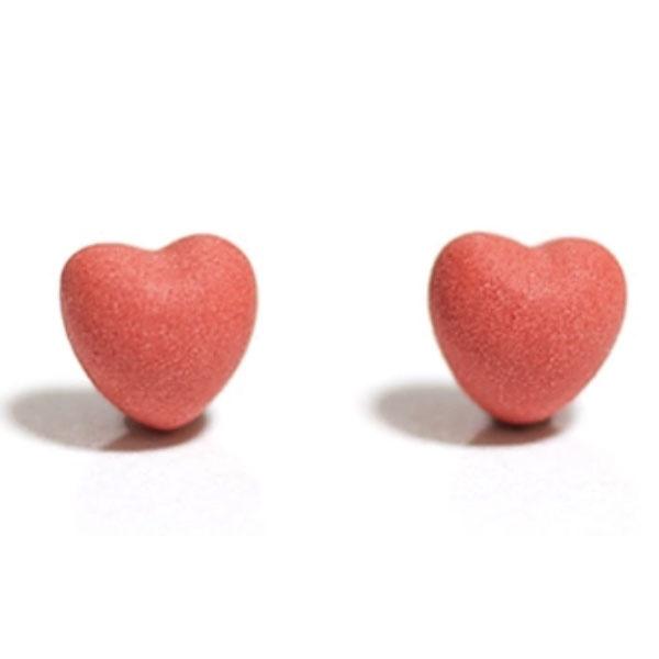 Matte Heart Stud Earrings