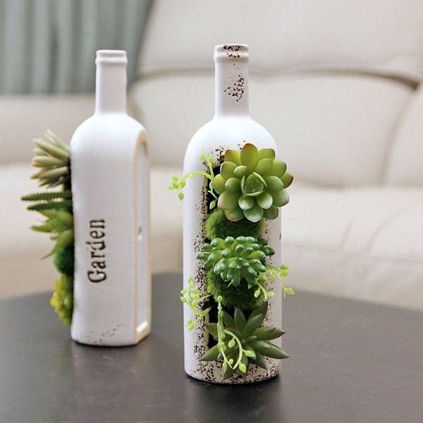 Succulents Wine Bottle Apollobox