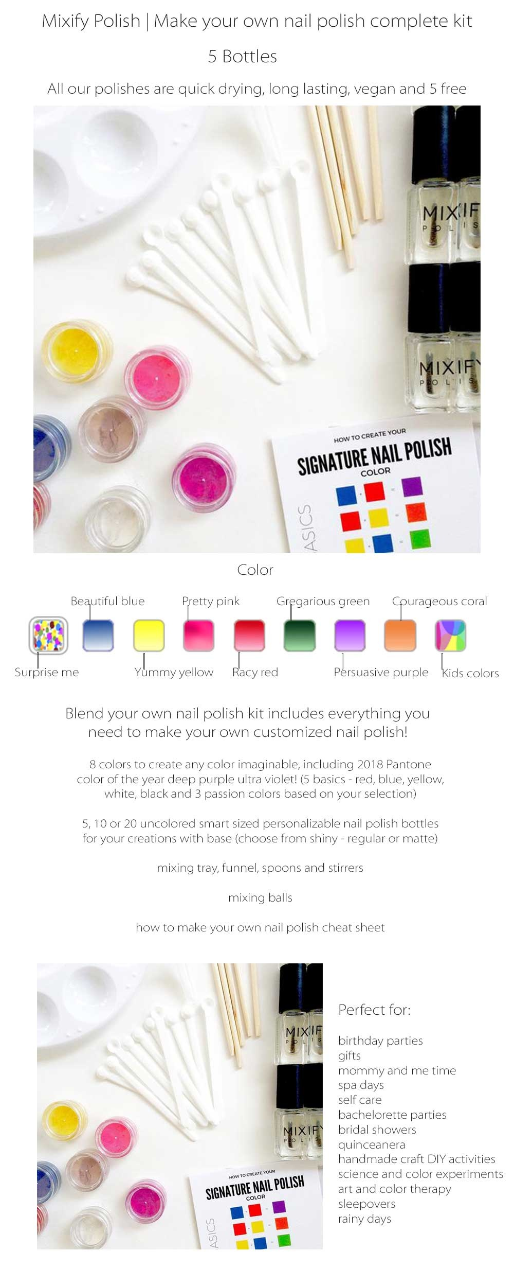 Mixify DIY Nail Polish Kit - ApolloBox