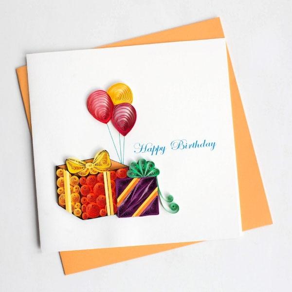 quilling birthday card  apollobox