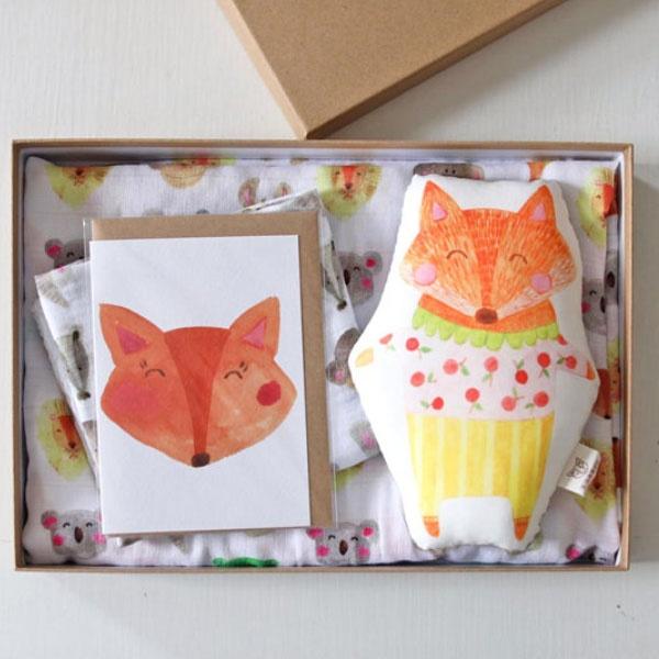 Handmade Watercolor Print Baby Gift Sets Apollobox