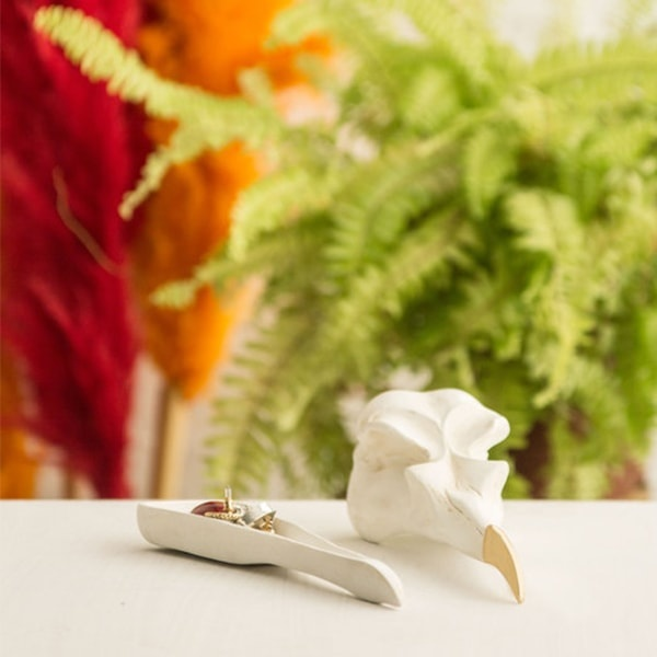 INOpets.com Anything for Pets Parents & Their Pets Bird Skull Jewellery Keeper