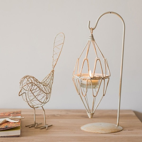 Bird And Cage Candle Holder