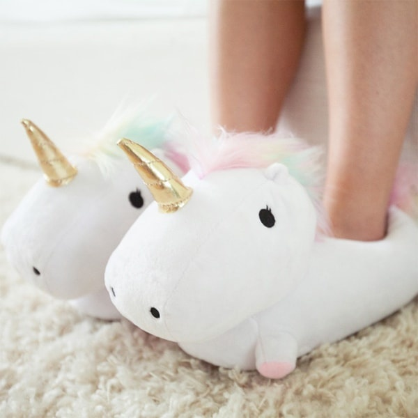 e9131291661 Unicorn USB Heated Slippers - ApolloBox